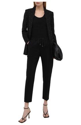 Женские брюки BOSS черного цвета, арт. 50444247 | Фото 2