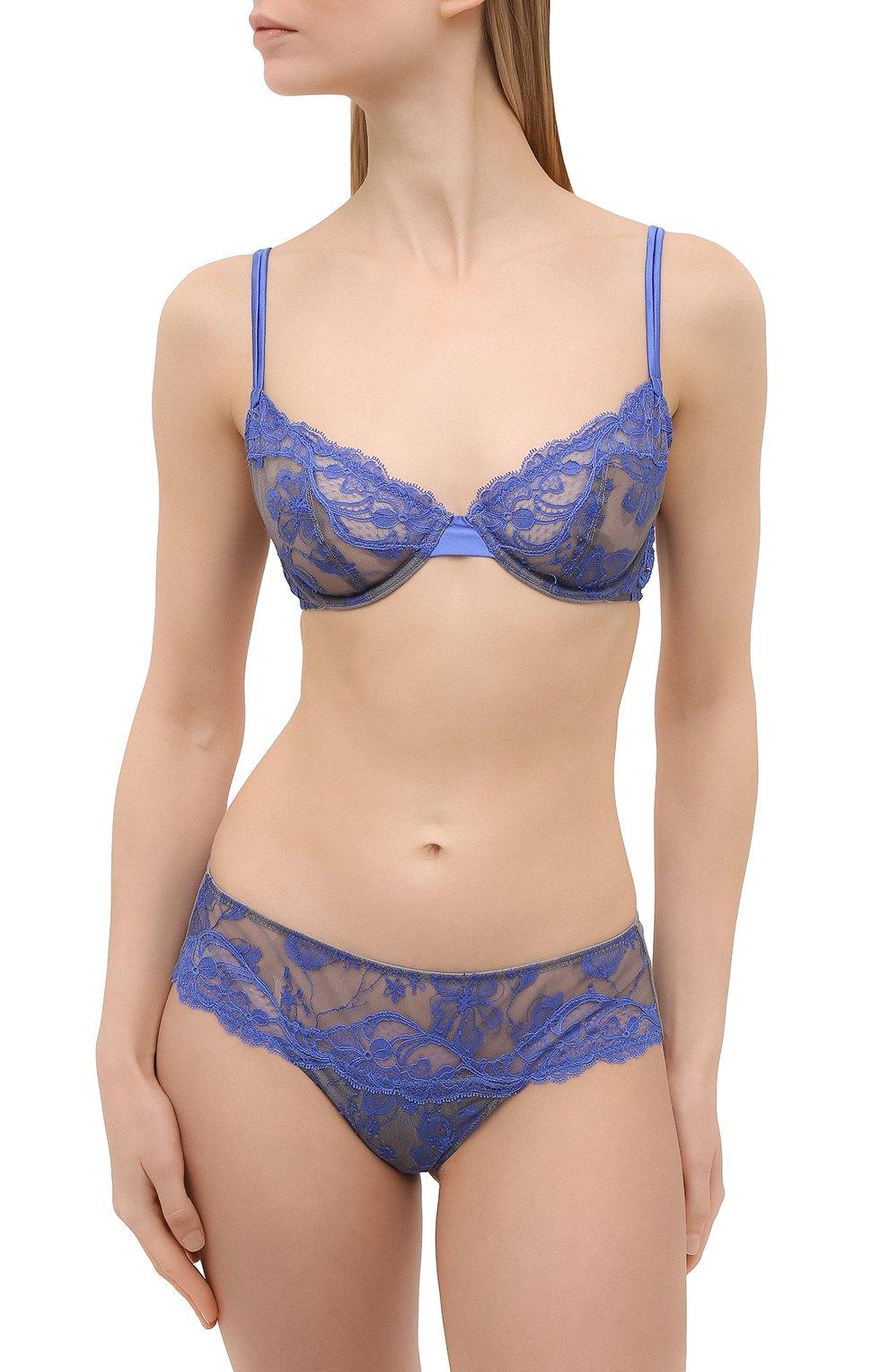Женские трусы-стринги ANDRES SARDA синего цвета, арт. 3309755   Фото 2 (Материал внешний: Синтетический материал)