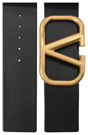 Женский кожаный ремень  VALENTINO черного цвета, арт. VW2T0S10/ZFR | Фото 2 (Материал: Кожа)