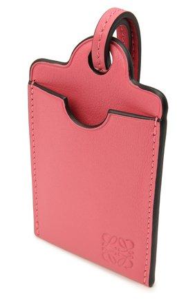 Женский кожаный футляр для кредитных карт LOEWE розового цвета, арт. C623T02X01   Фото 2 (Материал: Кожа)