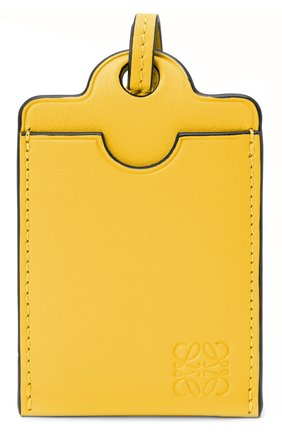 Женский кожаный футляр для кредитных карт LOEWE желтого цвета, арт. C623T02X01   Фото 1