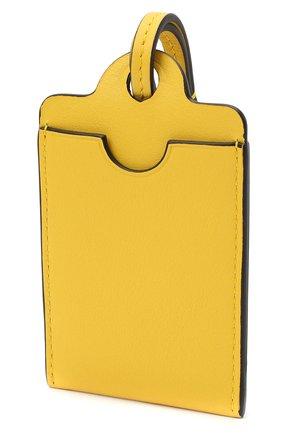 Женский кожаный футляр для кредитных карт LOEWE желтого цвета, арт. C623T02X01   Фото 2