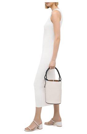 Женские кожаные мюли byblos GIANVITO ROSSI белого цвета, арт. G13660.60RIC.NGLBIAN | Фото 2