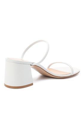 Женские кожаные мюли byblos GIANVITO ROSSI белого цвета, арт. G13660.60RIC.NGLBIAN | Фото 4