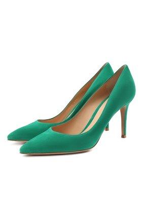Женские замшевые туфли gianvito 85 GIANVITO ROSSI зеленого цвета, арт. G24580.85RIC.CAMEMER | Фото 1