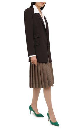 Женские замшевые туфли gianvito 85 GIANVITO ROSSI зеленого цвета, арт. G24580.85RIC.CAMEMER | Фото 2