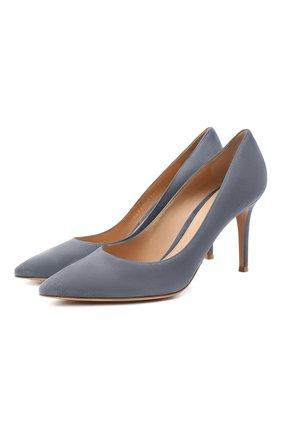 Женские замшевые туфли gianvito 85 GIANVITO ROSSI серого цвета, арт. G24580.85RIC.CAMGRIS | Фото 1