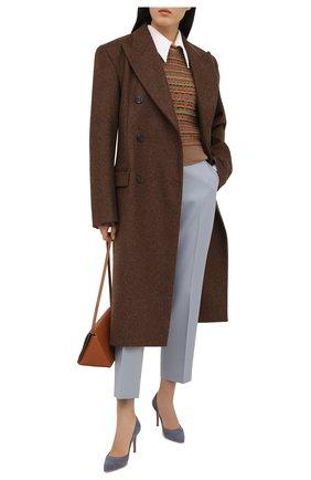 Женские замшевые туфли gianvito 85 GIANVITO ROSSI серого цвета, арт. G24580.85RIC.CAMGRIS | Фото 2