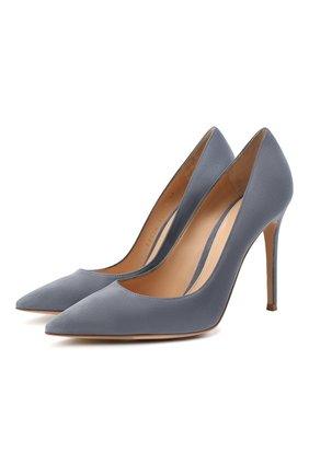 Женские замшевые туфли gianvito 105 GIANVITO ROSSI серого цвета, арт. G28470.15RIC.CAMGRIS | Фото 1