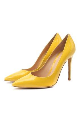 Женские кожаные туфли gianvito 105 GIANVITO ROSSI желтого цвета, арт. G28470.15RIC.VERMIM0   Фото 1