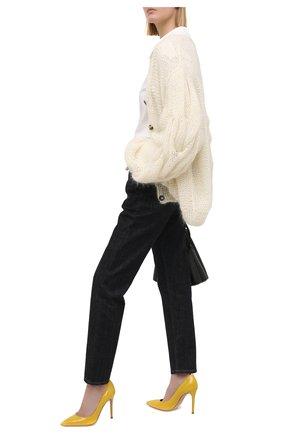 Женские кожаные туфли gianvito 105 GIANVITO ROSSI желтого цвета, арт. G28470.15RIC.VERMIM0   Фото 2