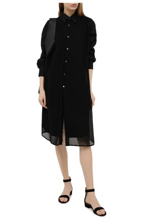 Женские замшевые сандалии portofino GIANVITO ROSSI черного цвета, арт. G60354.20RIC.CAMNER0 | Фото 2