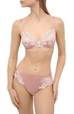 Женские трусы-стринги LA PERLA розового цвета, арт. 0019222/W044 | Фото 2