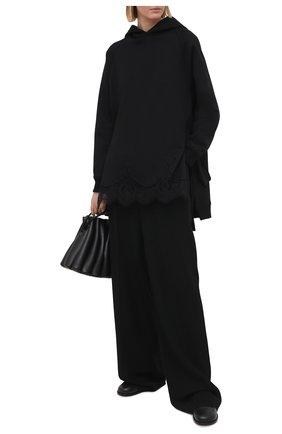 Женский хлопковое худи VALENTINO черного цвета, арт. VB3MF08F64G   Фото 2