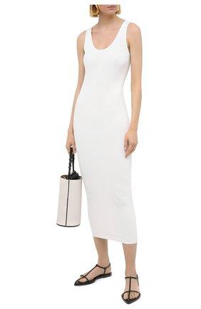 Женское платье из вискозы VALENTINO кремвого цвета, арт. VB3KD05V68F   Фото 2