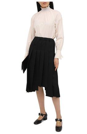 Женские кожаные туфли GUCCI черного цвета, арт. 637134/DMBT0   Фото 2