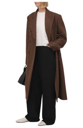 Женский свитер из шерсти и кашемира DOROTHEE SCHUMACHER кремвого цвета, арт. 116102/INSPIRING L00KS | Фото 2