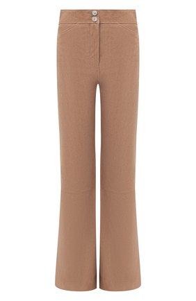 Женские замшевые брюки DOROTHEE SCHUMACHER коричневого цвета, арт. 144203/VEL0UR S0FTNESS | Фото 1