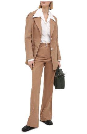 Женские замшевые брюки DOROTHEE SCHUMACHER коричневого цвета, арт. 144203/VEL0UR S0FTNESS | Фото 2