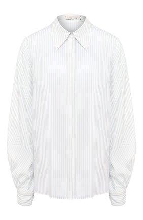 Женская шелковая рубашка DOROTHEE SCHUMACHER белого цвета, арт. 147802/PLAYFUL STRIPES | Фото 1