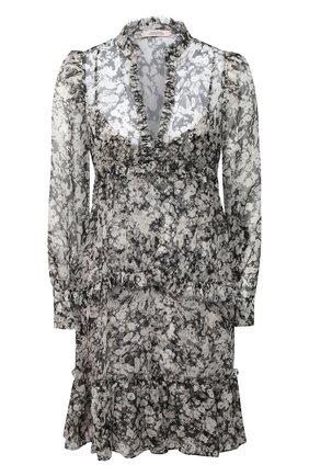 Женское шелковое платье DOROTHEE SCHUMACHER черно-белого цвета, арт. 149111/SHIMMERING FL0WER | Фото 1