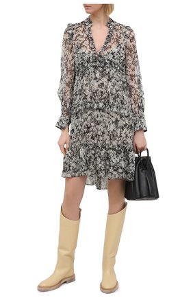 Женское шелковое платье DOROTHEE SCHUMACHER черно-белого цвета, арт. 149111/SHIMMERING FL0WER | Фото 2