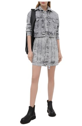 Женское джинсовое платье RAG&BONE серого цвета, арт. WDD20F2753W5AL   Фото 2