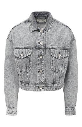 Женская джинсовая куртка RAG&BONE серого цвета, арт. WDD20F1413W5AU   Фото 1