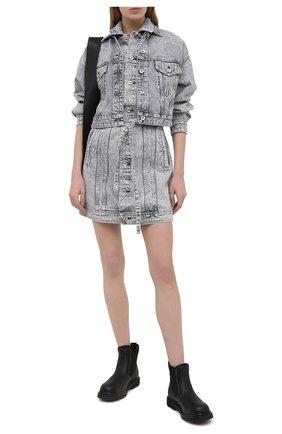 Женская джинсовая куртка RAG&BONE серого цвета, арт. WDD20F1413W5AU   Фото 2