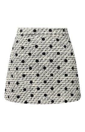 Женская юбка-шорты VALENTINO черно-белого цвета, арт. VB3RA7H569M | Фото 1