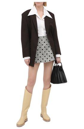 Женская юбка-шорты VALENTINO черно-белого цвета, арт. VB3RA7H569M | Фото 2
