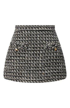 Женская юбка-шорты VALENTINO черно-белого цвета, арт. VB3RA769677 | Фото 1