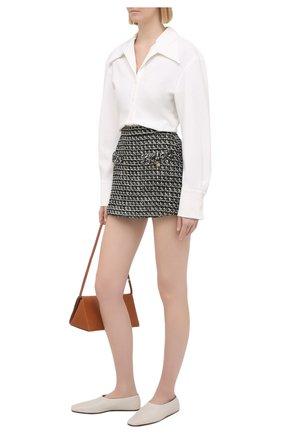 Женская юбка-шорты VALENTINO черно-белого цвета, арт. VB3RA769677 | Фото 2