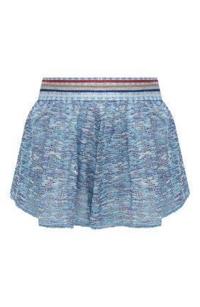 Женские шорты из вискозы MISSONI голубого цвета, арт. MMI00003/BT0012 | Фото 1
