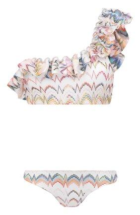 Женский раздельный купальник MISSONI белого цвета, арт. MMP00245/BR00CC | Фото 1