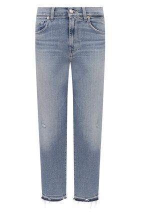 Женские джинсы 7 FOR ALL MANKIND голубого цвета, арт. JSA71200SD | Фото 1