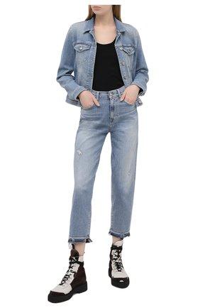 Женские джинсы 7 FOR ALL MANKIND голубого цвета, арт. JSA71200SD | Фото 2