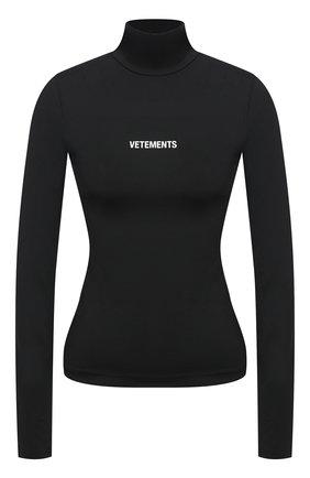 Женская водолазка VETEMENTS черного цвета, арт. WE51TR130B 1332/BLACK | Фото 1