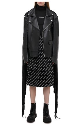 Женская водолазка VETEMENTS черного цвета, арт. WE51TR130B 1332/BLACK | Фото 2