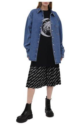 Женская хлопковая футболка VETEMENTS черного цвета, арт. UE51TR740B 1611/W | Фото 2