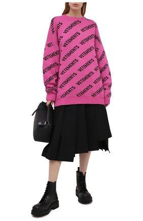 Женский свитер из хлопка и кашемира VETEMENTS фуксия цвета, арт. UE51KN200P 1399/W   Фото 2