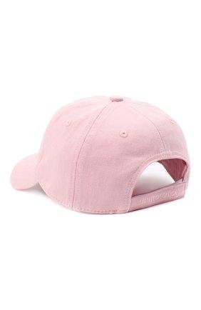 Женская хлопковая бейсболка VETEMENTS розового цвета, арт. UE51CA800P 1052/W | Фото 2