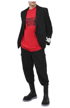 Мужская хлопковая футболка VETEMENTS красного цвета, арт. UE51TR810R 1611/M | Фото 2