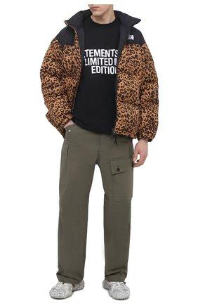 Мужская хлопковая футболка VETEMENTS черного цвета, арт. UE51TR810B 1611/M   Фото 2
