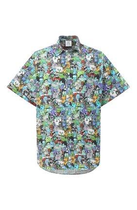Мужская хлопковая рубашка VETEMENTS разноцветного цвета, арт. UE51SH100C 2608/M   Фото 1