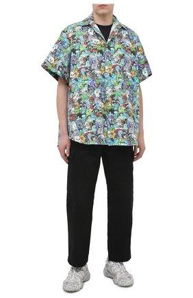 Мужская хлопковая рубашка VETEMENTS разноцветного цвета, арт. UE51SH100C 2608/M   Фото 2