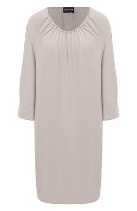 Женское шелковое платье GIORGIO ARMANI бежевого цвета, арт. 1SHVA083/T02AU | Фото 1