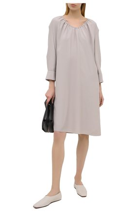 Женское шелковое платье GIORGIO ARMANI бежевого цвета, арт. 1SHVA083/T02AU | Фото 2