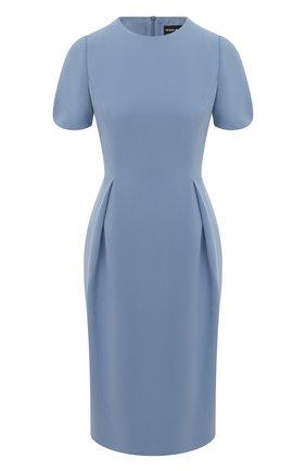 Женское шелковое платье GIORGIO ARMANI синего цвета, арт. 1SHVA07U/T0010 | Фото 1
