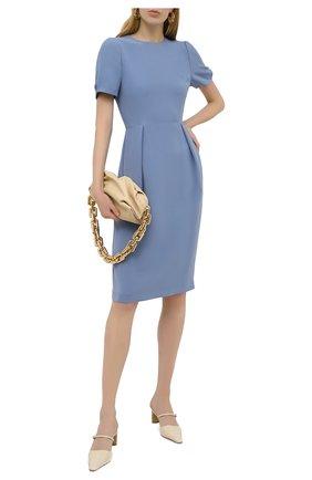 Женское шелковое платье GIORGIO ARMANI синего цвета, арт. 1SHVA07U/T0010 | Фото 2